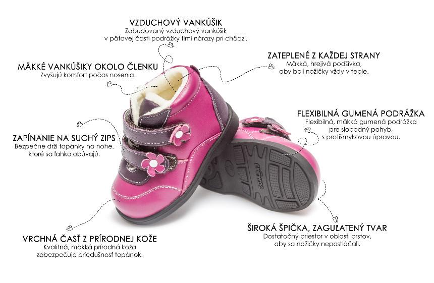 be4b908f95 Freycoo - Heidi pink - Prvé Topánky