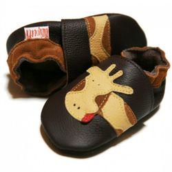 Topánky Liliputi - hnedé so žirafou