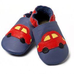 Topánky Liliputi - modré s autom